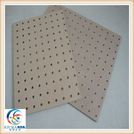 Plain and Melamine Surface Display Shelf Holed Treatment MDF pictures & photos