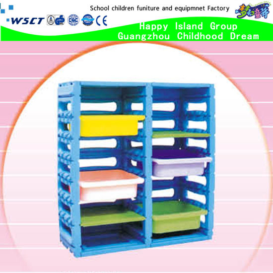 China High Quality Children Furniture Preschool Plastic Storage For