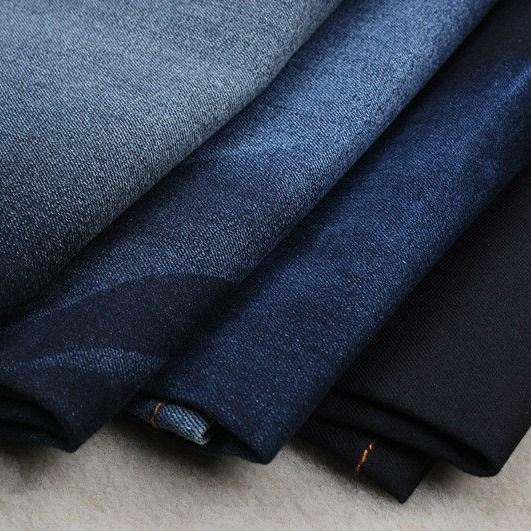 Good Stretch CTN/Poly/Spandex Print Stock Denim Fabric