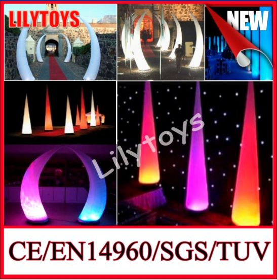 2014 New Design Decoration Hanging White or Customized Colorful Inflatable Flower LED pictures & photos