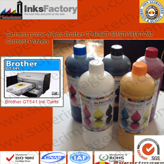China Brother Gt-361/Gt-381/Gt-541/Gt-782 T-Shirt Inks