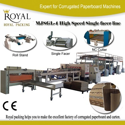 High-Speed Single Facer Line (2-ply corrugated production line) pictures & photos