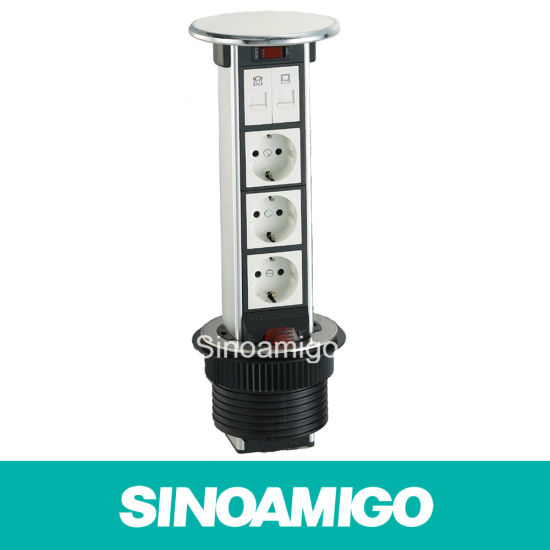 Waterproof Kitchen Lift Type Desktop Socket pictures & photos