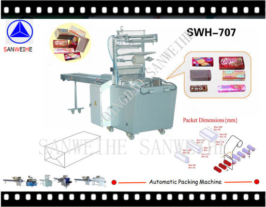 Envelope-Form Packing Machine for Waffle/Wafer/Cookie Biscuit pictures & photos