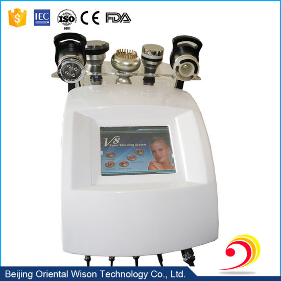 5 Handles RF Vacuum Ultrasound Body Slimming Cavitation Machine pictures & photos