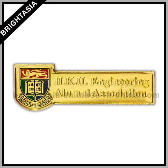 School Student Metal Name Badge for Promotion (BYH-10311)