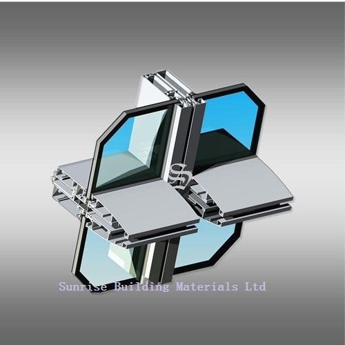 Aluminum Profile for Curtain Wall (Facade System) pictures & photos