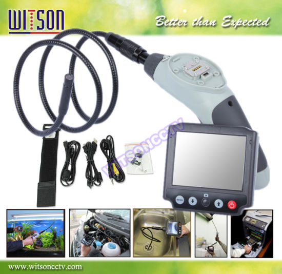 Witson Endoscope Pipe Inspection Camera 3.5'' Monitor Detachable Waterproof Camera