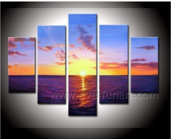 100% Handmade Fashion Seascape Oil Painting (SE-186) pictures & photos