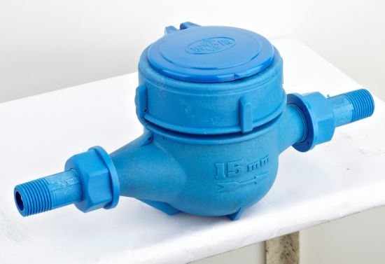 15mm 20mm Local Smart Rotary Wing Vortex PA6+25%GF Plastic Molded Case Flow Water Meter Flow Meter Cost with ISO Fuda for Industrial Use