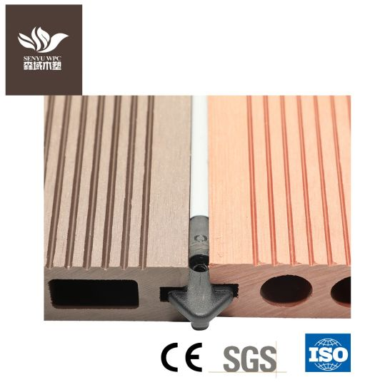 Outdoor WPC Wood Plastic Composite Square Hollow Decking Board