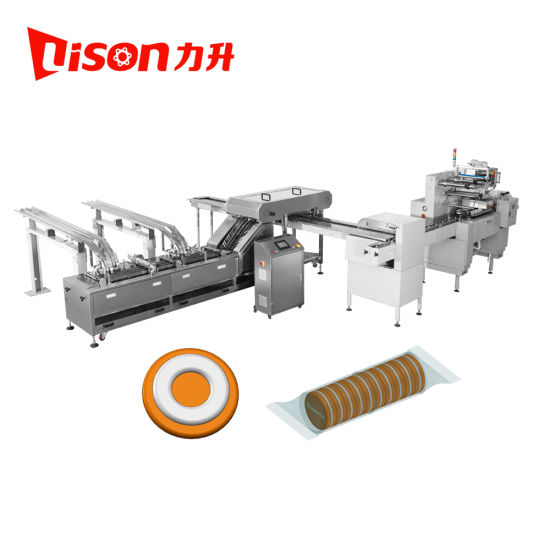 Ce Automatic Cream Biscuit Sandwich Machine and on Edge Packing Machine Factory Price