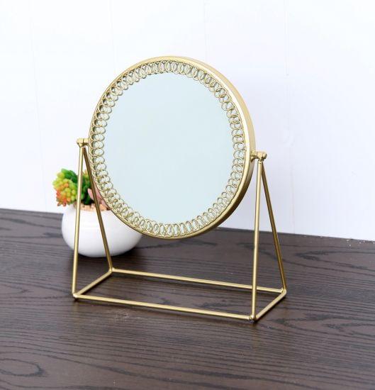 Wire Standing Mirror, Metal Mirror, Decorative Mirror, Table Mirror