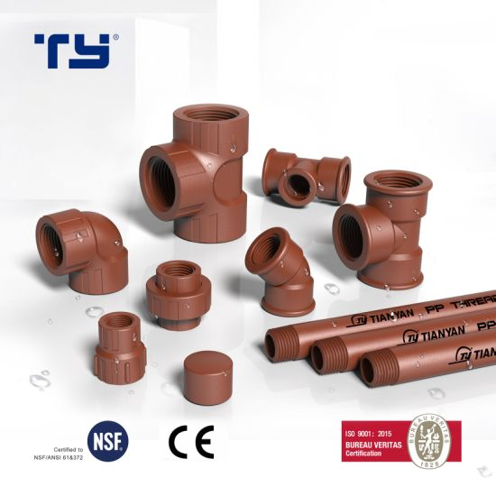 Pph BS Thread Water Supply Pipe /Tube Fitting with Iram 13478 Standard