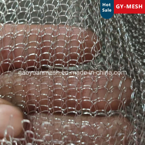 Stainless Steel Mesh Corrugated/Flat Knitted Wire Mesh for Demister