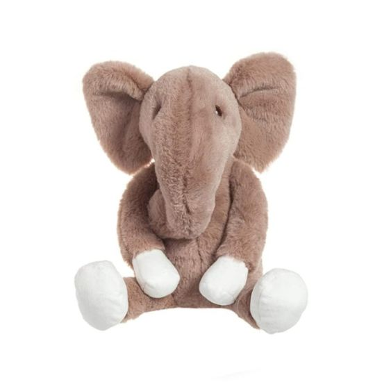 Brown Fluffy Stuffed Soft Plush Elephant Fancy Custom Animal Toy