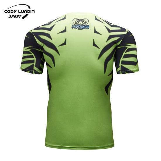 Latest Design Gym Men Wear Sublimation Tight Sport T-Shirt