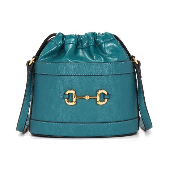 2020 New Fashion Korea Style Genuine Leather Ladies Bucket Shoulder Handbags