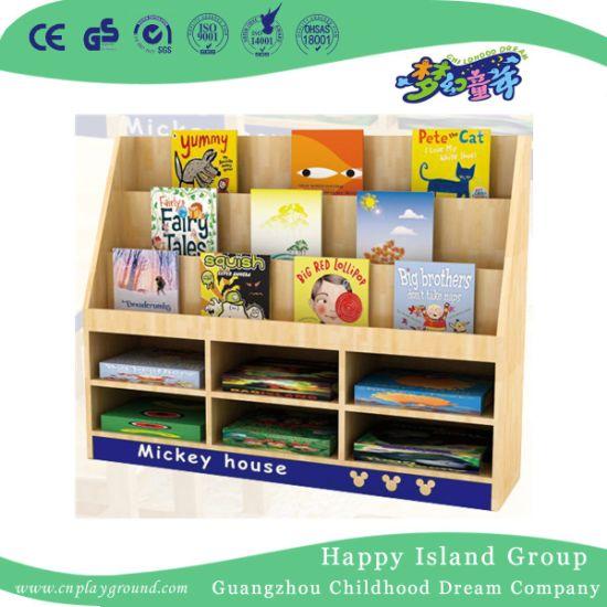 Hot Oak Wooden Kids Book Shelf