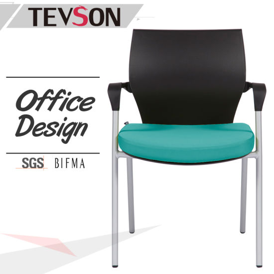 PP Plastic Back And Seat With Cushion And Metal Legs Office Conference Chair