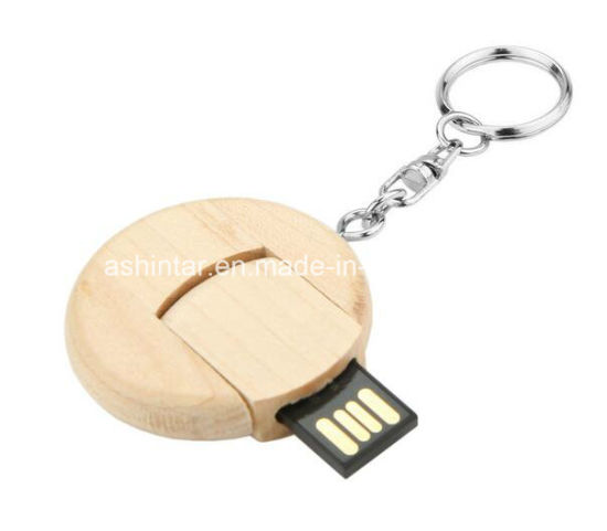 Wood USB Memory Round Shape USB Flash Drive Pendrive USB Stick pictures & photos