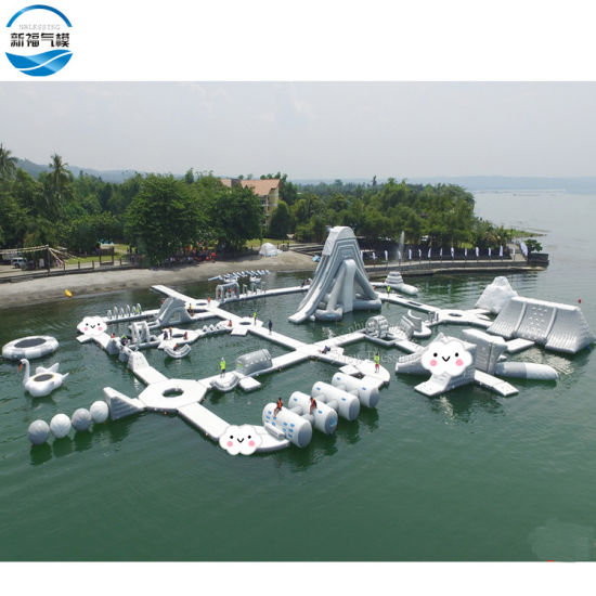 PVC Materials Inflatable Floating Water Amusement Park, Adult Inflatable Aqua Water Park