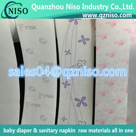 Printed Jombo Roll Release Paper for Baby Diapers/Sanitary Napkins