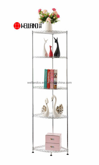 Free Standing Small 4-Tire Carbon Steel Corner Storage Shelves for Bathroom Kitchen Livingrooom pictures & photos