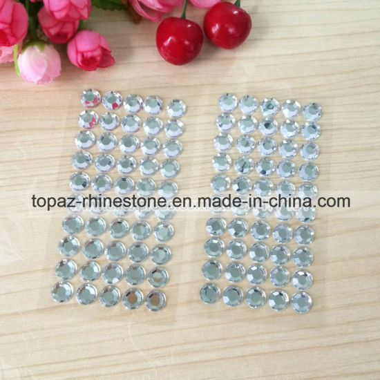 2mm,3mm,4 mm Self Adhesive Diamante Stick on Crystals Sticky Rhinestone Gems