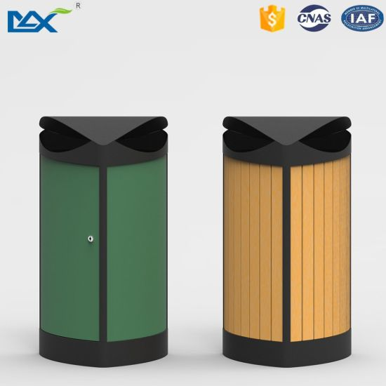 Types Of Outdoor Decorative Recycle Plastic Wooden Waste Litter Bin