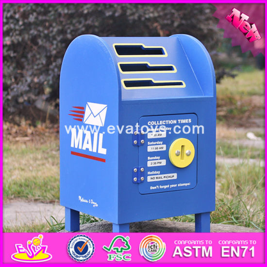 2017 Wholesale Kids Wooden Mailbox Toy Box, Funny Baby Wooden Mailbox Toy Box, Best Design Wooden Mailbox Toy Box W10d122
