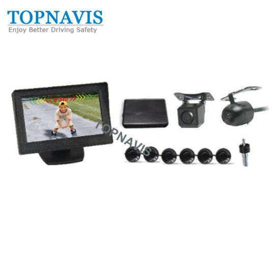 2 Camera and 6 Sensors Rearview Front Parking Sensor