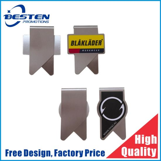 Stainless Steel Brass Iron Etch Laser Print Nice Bookmark Metal Paper Clip