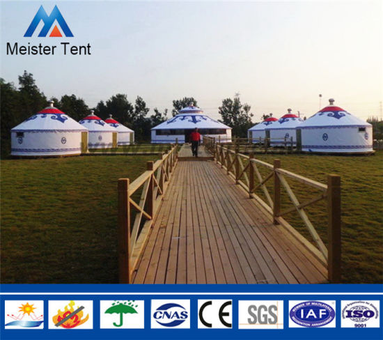 4-8m Dia Luxury Aluminum Frame Mongolian Yurt for Hotel Living pictures & photos