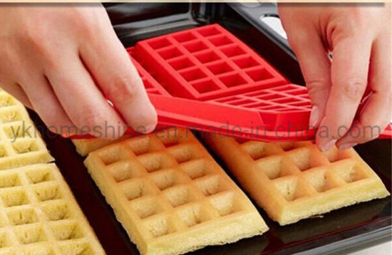 Waffle Molds 4 Holes Silicone Waffle Cake Chocolate Mold Kitchen Bakeware Cake Decorating Mould Pan