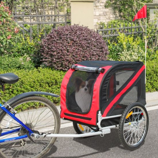 Pet Bicycle Trailer for Dogs and Cats, Steel Frame, Medium and Large