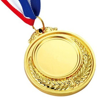 Wholesale Gold Painting Embossed Logo Medal for Running Competition pictures & photos