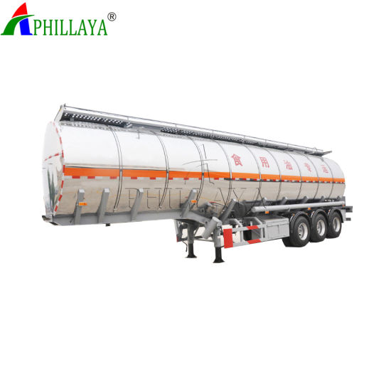 3 Axles Aluminum Fuel Tank Semi Trailer pictures & photos