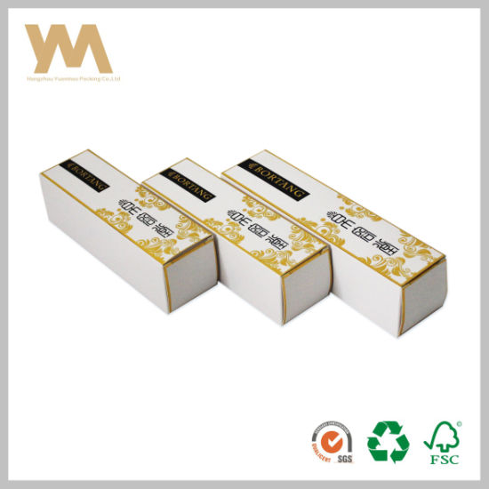 Wholesale Paper Packing Skin Care Box with Gold Hot Stamping pictures & photos