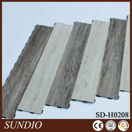 European Style Stone Grain PVC Click Flooring pictures & photos