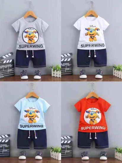 0aa31a58244e China High Quality Children Leisure Printing T Shirt and Pants ...