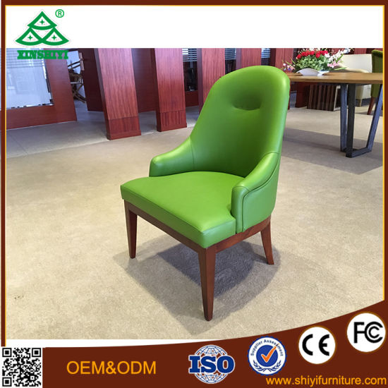Tea Bar Cafe Restaurant Chairs Oak Wooden Chair Armrest Upholstered Chair Simple Modern Chair pictures & photos
