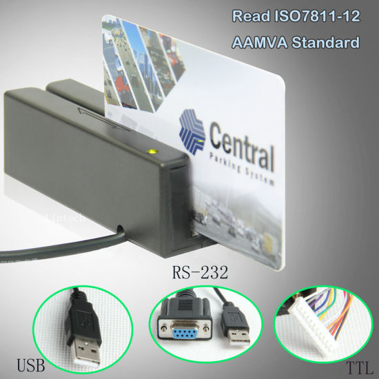 Hot Sale Mini USB Interface Magnetic Swipe Card Reader pictures & photos