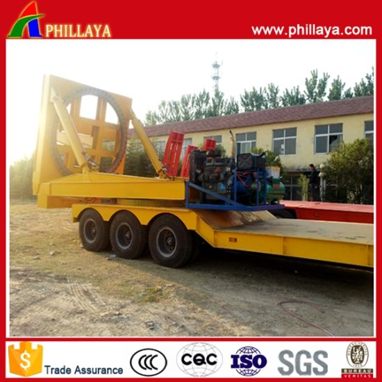 Semi Low Bed Trailer for Transporting Wind Turbin Blade pictures & photos
