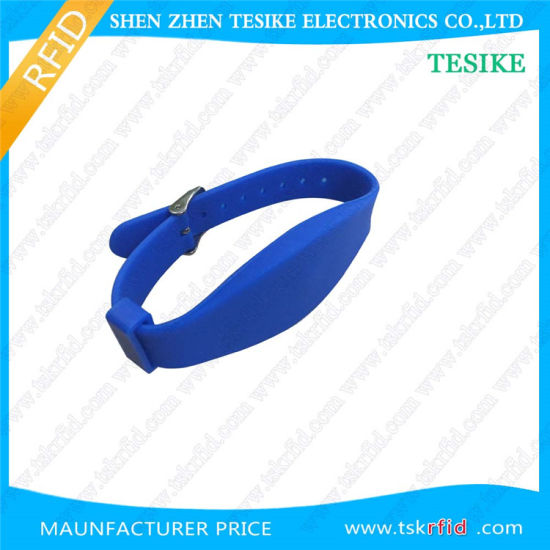 Waterproof Adjustable Ce Certificated Silicone RFID Bracelet Wristband