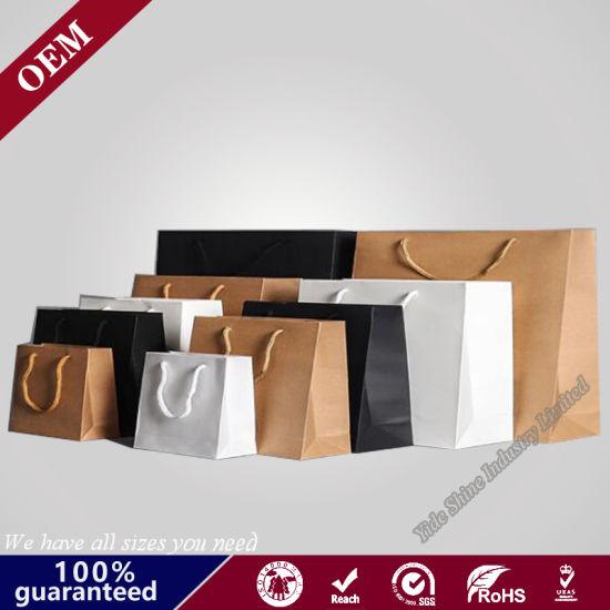 Custom Wholesale Good Quality Printed Fancy Design Shopping Kraft Paper Bag