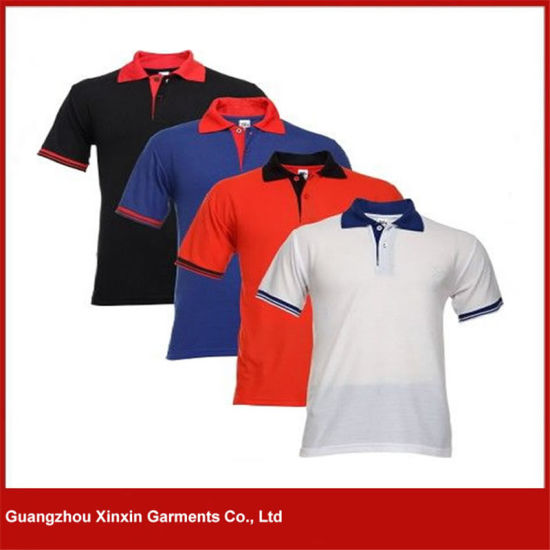 Factory Wholesale Cheap Collar Shirts for Men for Promotion (P117) pictures & photos
