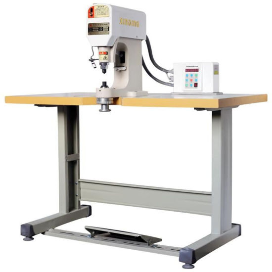 Automatic Cloth Sewing Servo Eyelets Snap Button Jeans Button Fixing Press Drilling Shoe Making Punch Machine