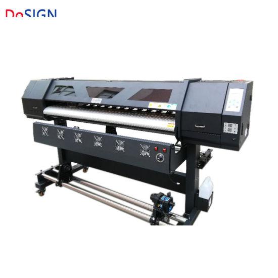 1 8m Inkjet Indoor Printing Machine Ecosolvent Glossy Sticker Vinyl Canvas  Printer Plotter for Canvas