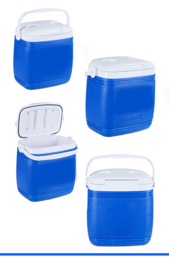 Manufacture 16 L Portable Plastic Trolley Cooler Food Box pictures & photos